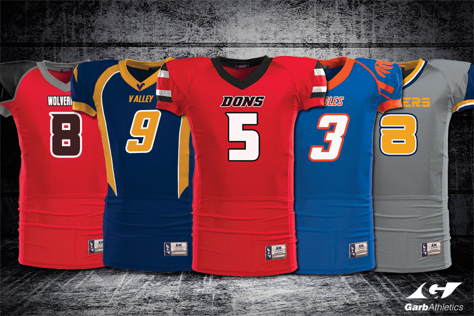 7cb261e02325 Football Uniforms - just a few out of the hundreds of styles available