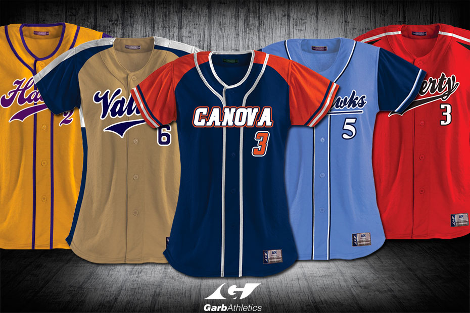 Softball Uniforms  - just a few out of the hundreds of styles available